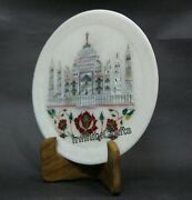 Taj Mahal Replica Inlaid With Mop Table Masterpieces White Plate Size 9 Inches