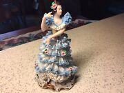 Dresden Lace Figurine Germany Spanish Dancer Flamenco Excellent Cond Rare