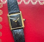 Vintage Manual Wind Black Roman Numeral Dial W/ Box And Pamphlet Watch