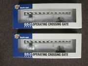 Pair Of Walthers Cornerstone Built-ups O Gauge Operating Crossing Gates