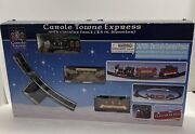 2003 Lemax Carole Towne Express Toy Train Set Christmas Collectible New In Box