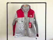Supreme X The 3m Mountain Parka Reflective Silver Red Jacket Tnf L