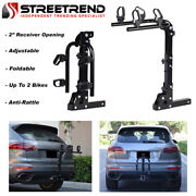 Hitch Mount Bike Rack 2-bicycle Style Adjustable Foldable Trailer Carrier 2 S6
