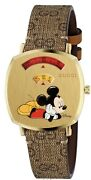 Grip Disney Mickey Mouse Gold Plated Stainless Steel Watch Ya157420