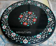 36 Inches Round Coffee Table Top Vintage Crafts With Inlay Work Hallway Table