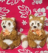 2bath And Body Works Brown Decoration Fall Racoon Figurine New