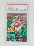 2019 Select Patrick Mahomes Field Level 1/5 Green Prizm Psa 9 Rare First One
