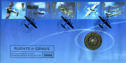 British Aircraft Designers Commemorative Fdc And Royal Mint Coin