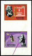 Aitutaki 1977 25c-70c Bell And First Telephone Unissued Darker Colors Proof 2v