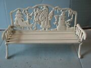 Dept 56 Christmas 15 X 9 Cast Iron And Wood Park Bench