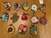 Chala - Garden Key Fobs - Coin Purse On The Back Except Dragonfly - Adorable