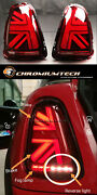 2nd Gen.3d Red Union Jack Rear Tail Lights For Mk2 Mini Cooper/s R56 R57 R58 R59