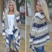 Womens Waterfall Cardigan Coat Poncho Long Sleeve Sweater Casual Jacket Outwear