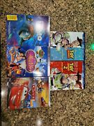 Lot Of 5 Disney Dvd And Blu-ray Toy Story 1and2 Aladdin Finding Nemo And Cars