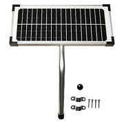 10 Watt Solar Panel Kit Fm123 For Mighty Mule Automatic Gate Openers Black Cell