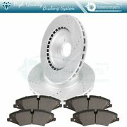Front Ceramic Brake Pads And Rotors For 2010-12 Land Rover Lr4 Slot Drill