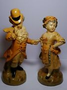 Vnt 1930and039s Borghese Irish Man And Woman Figurine Ital Handmade Richand039s Dept Store