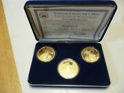 National Collectorand039s Mint 24k Gold 1907 1933 Double Eagle Proof Set .999 Silver