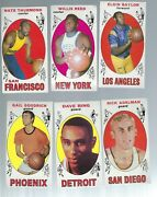 1969-70 Topps Basketball Vintage 31 Dif All Exmt W/willis Reed Bing Thurman Nat