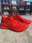 New Mens Under Armour Curry 6 Sz 10.5 Heart Of The Town Red Shoes 3020612 603