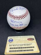 Hank Aaron Signed Steiner Downing Move Over Babe Inscription Numbered 32 Of 48