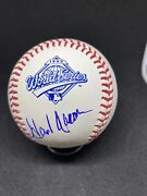 Hank Aaron Signed 1995 World Series Ball Private Signing In Blue Ink