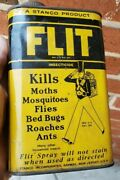 Vtg Flit Insecticide Graphic Tin Advertising Can Gas Oil Garage 1pt