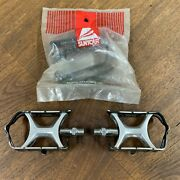 """Suntour Superbe Road Pedals W/new Replacement Cage Kit 9/16"""" Vintage V-nice"""