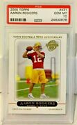 Aaron Rodgers 2005 Topps Rc Rookie Card 431 - Psa 10 Gem Mt - Green Bay Packers