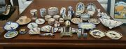 Large Lot Hb Quimper Pottery - Plates Shoes Covered Dish Tea Cups And More L@@k