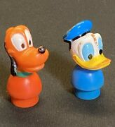 Vintage Fisher Price Disney Little People Donald Duck And Pluto