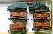 Tyco Steam 0-4-0 Bessemer And Lake Erie Coal Train Four 36and039 Ore Cars - Ho