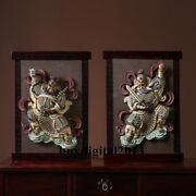 60 Cm China Porcelain Ceramic Art Pottery Home Fengshui The God Of Door Statue