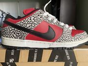 Nike Sb Dunk Low Supreme Red Cement Size 10