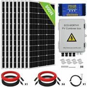 200w 400w 600w 800w Solar Panel Kitandbattery And Inverter For Off Grid Home Rv