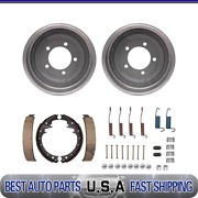 Rear Brake Drums And Brake Shoes And Hardware Kit For 1972-1973 Jeep J-2600
