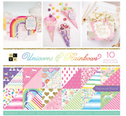 Diecuts With A View Dcwv Premium Stack-12 X 12-double-side-unicorns And Rainbows