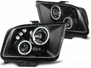 Ford Mustang 2004 2005 2006 2007 2008 2009 Lpfo31 Headlights Projector Halo Led
