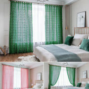 Vintage Crochet Curtain For Living Room Window Drapes Sheer Curtains Treatment
