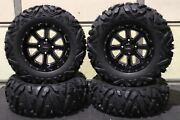 Brute Force 650i Irs 27 Quadking 14 St-4 Machined / Blk Atv Tire And Whee Irs1ca