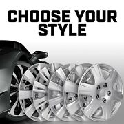 16 Inch Hubcaps 4 Piece Set Rim Skin Hub Cap Covers Abs Plastic Snap On Install