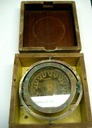 /vintage Ritchie Boat Ship Compass 115439 Brass 1880s