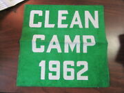 Clean Camp 1962 Banner, Camp Ockanickon 10 By 11 Inches  Cov3