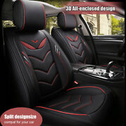 Universal 5-seats Car Seat Cover Pu Leather Cushion Protector Front+rear Deluxe