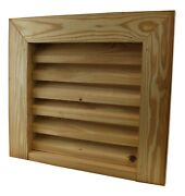 Shed Windows And More 18 X 18 Square Wooden Louvered Gable Vent