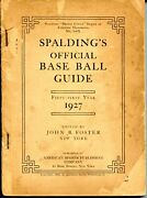 1927 Spaldingandrsquos Official Baseball Guide. 450+pages.