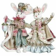 Mark Roberts 2021 Mr. And Mrs. Royal Court Bunny Figurine, Assortment Of 2