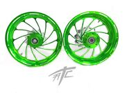 Cbr1000rr Stock Size Candy Green Contrast Turbo Wheels 2008-2011 Cbr1000rr