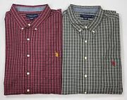 Menand039s Big And Tall U.s. Polo Assn. Button-front Long Sleeve Shirt Sizes Lt And 4xlt
