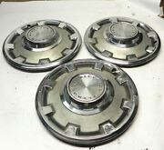 1968-69 Plymouth Valiant 13-inch Hubcap Wheelcovers Vintage Oem Lot Of 3 Used